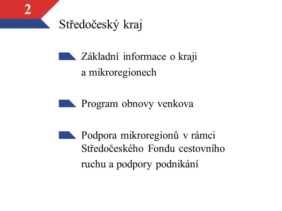 Středočeský kraj Základní informace o kraji a mikroregionech