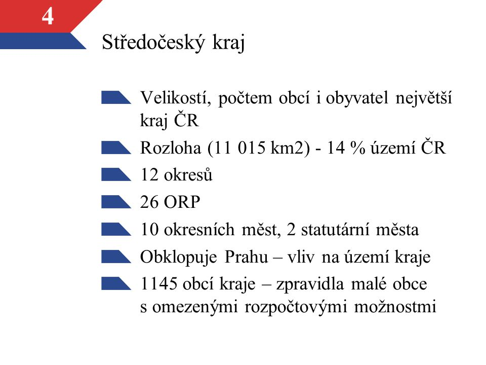 Středočeský kraj Velikostí, počtem obcí i obyvatel největší kraj ČR