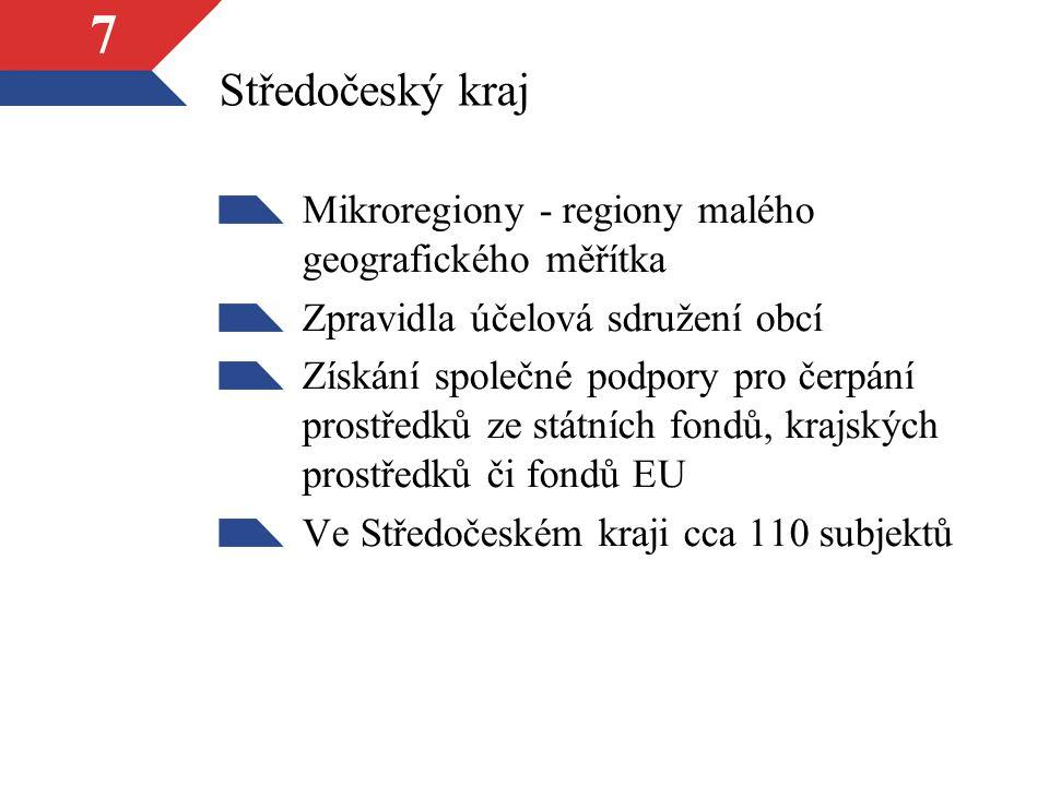 Středočeský kraj Mikroregiony - regiony malého geografického měřítka
