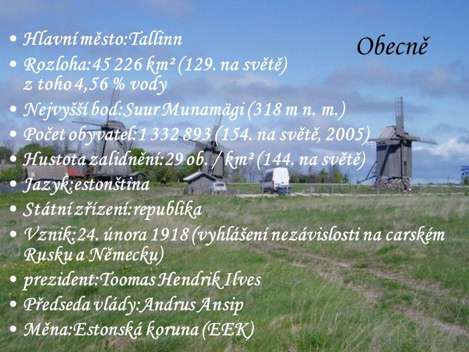 Obecně Hlavní město:Tallinn