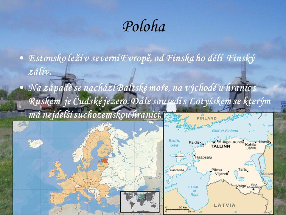 Poloha Estonsko leží v severní Evropě, od Finska ho dělí Finský záliv.