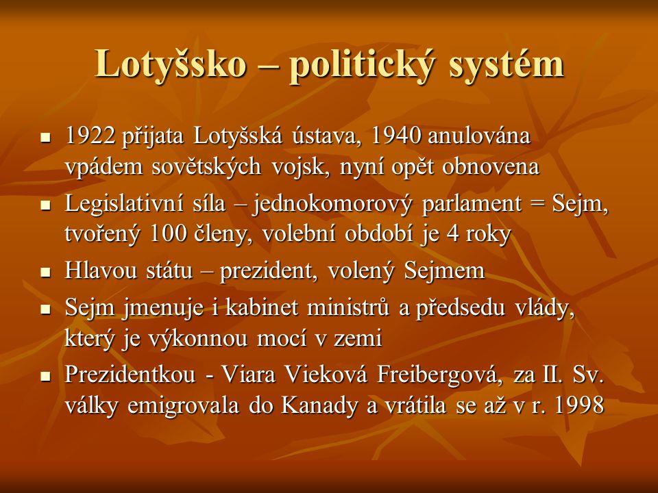 Lotyšsko – politický systém