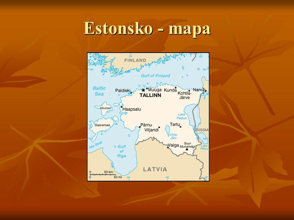 Estonsko - mapa