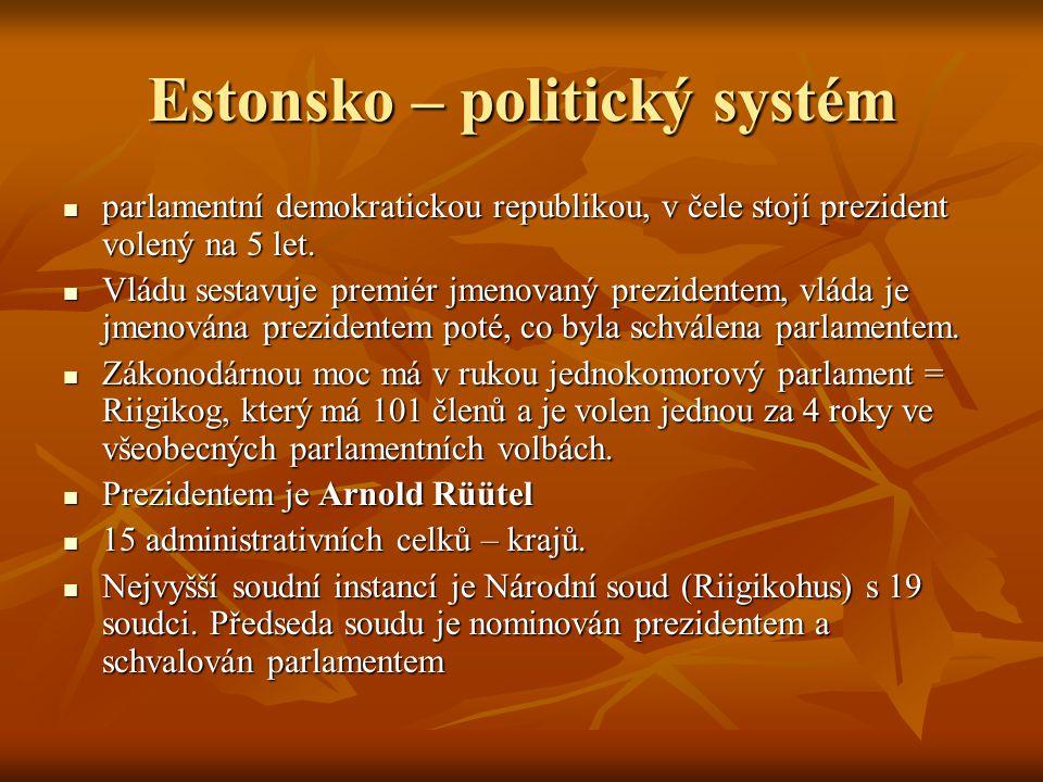 Estonsko – politický systém