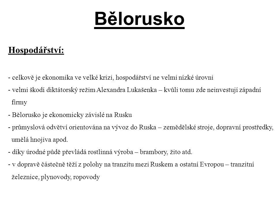 Bělorusko Hospodářství: