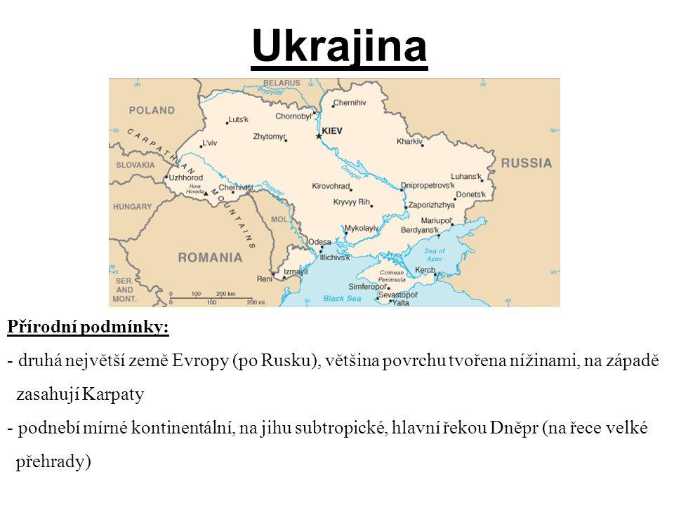 Ukrajina Přírodní podmínky: