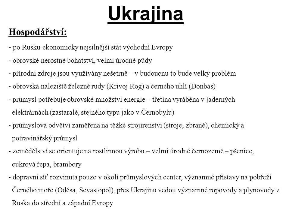 Ukrajina Hospodářství:
