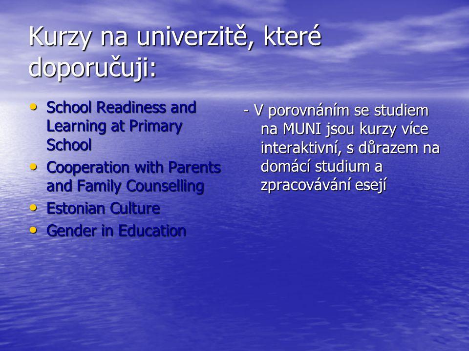 Kurzy na univerzitě, které doporučuji: