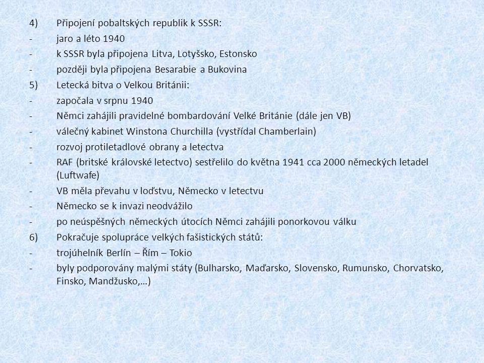 Připojení pobaltských republik k SSSR: