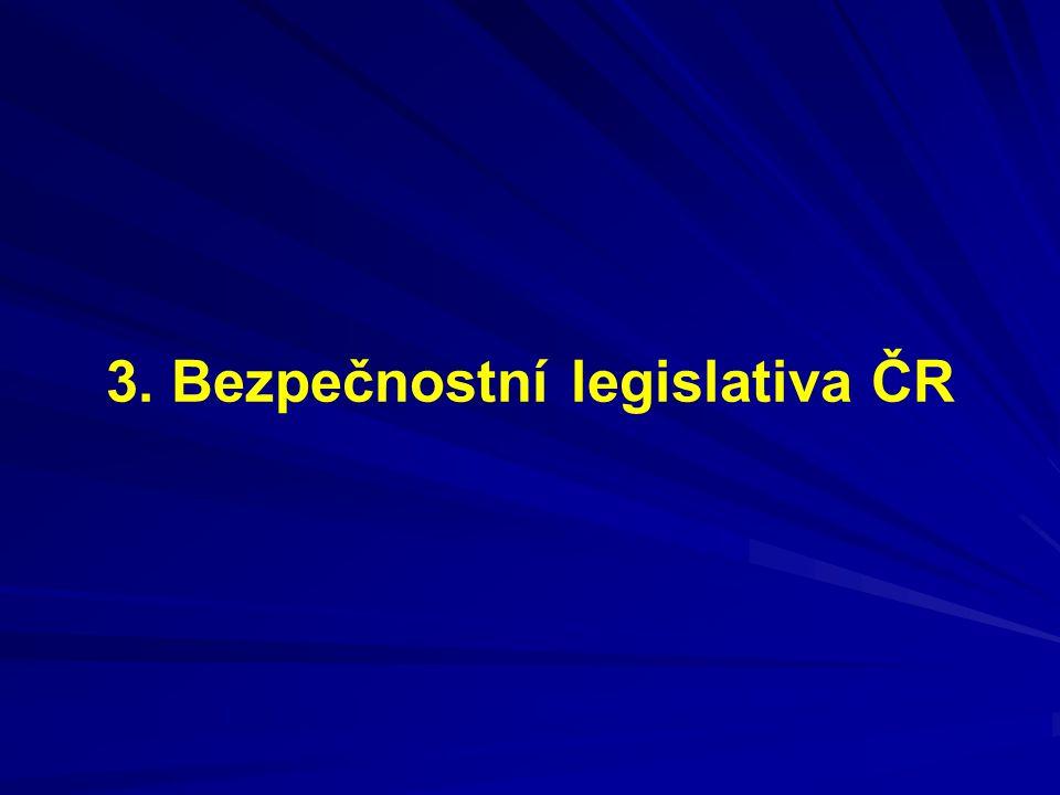 3. Bezpečnostní legislativa ČR