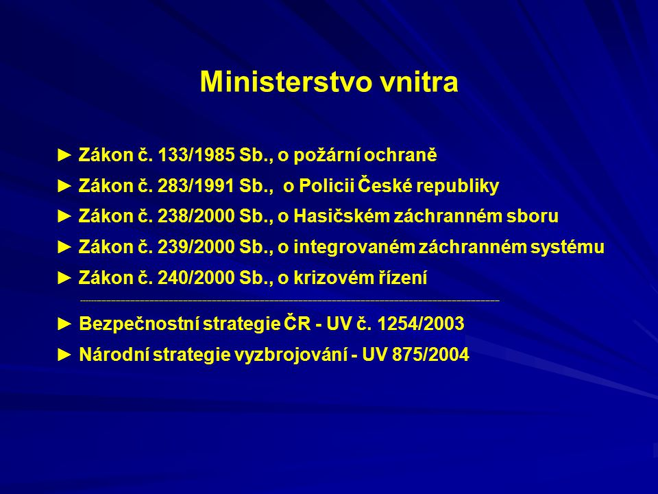 Ministerstvo vnitra ► Zákon č. 133/1985 Sb., o požární ochraně
