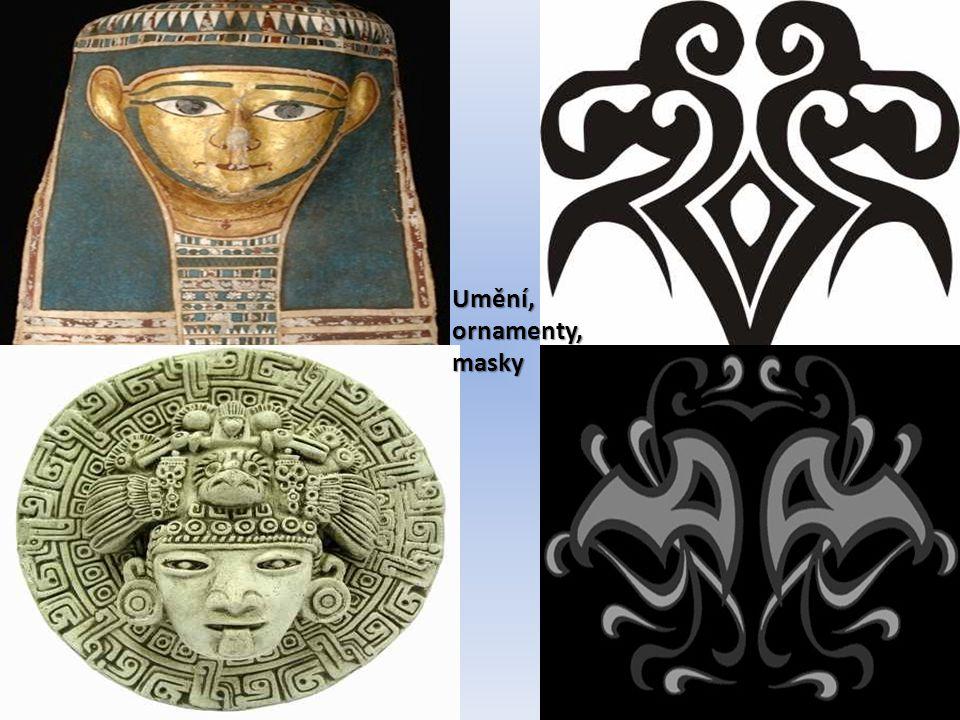 Umění, ornamenty, masky