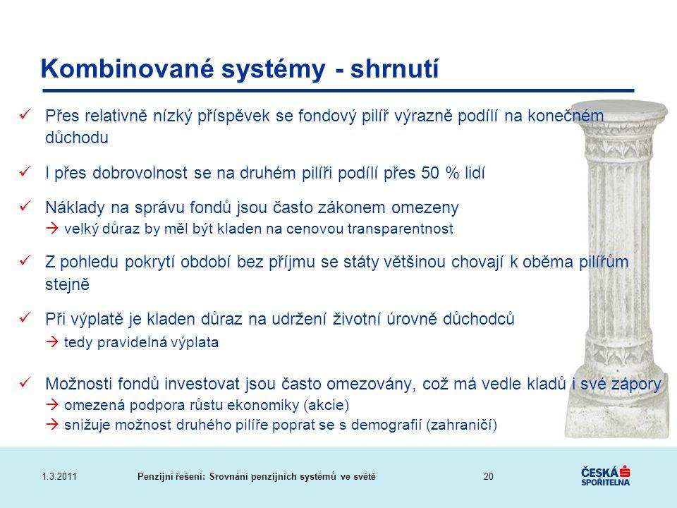 Kombinované systémy - shrnutí