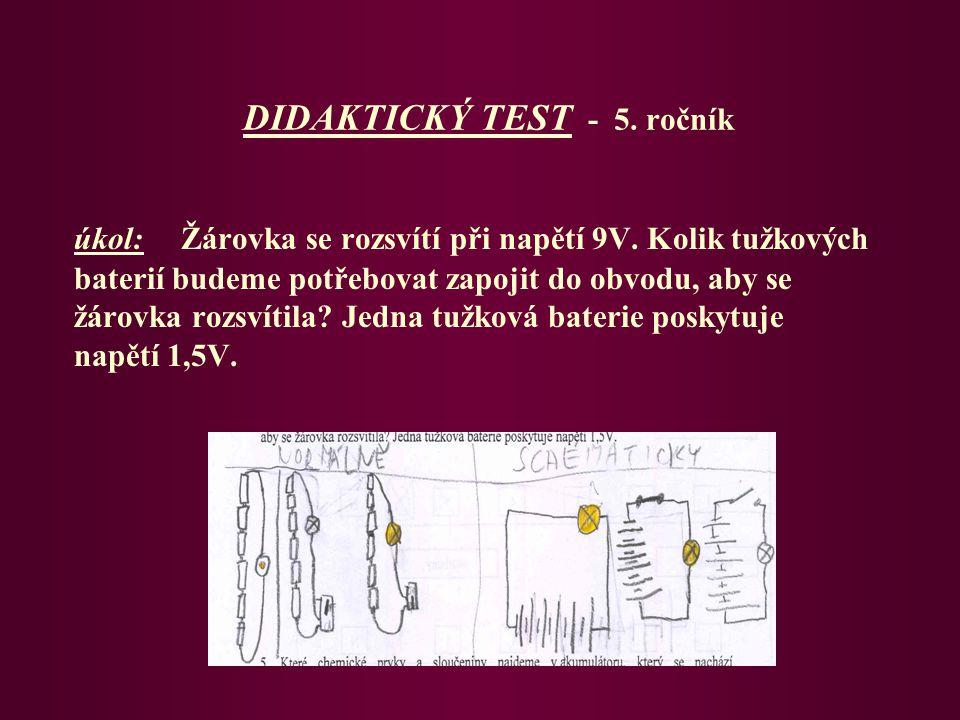 DIDAKTICKÝ TEST - 5. ročník