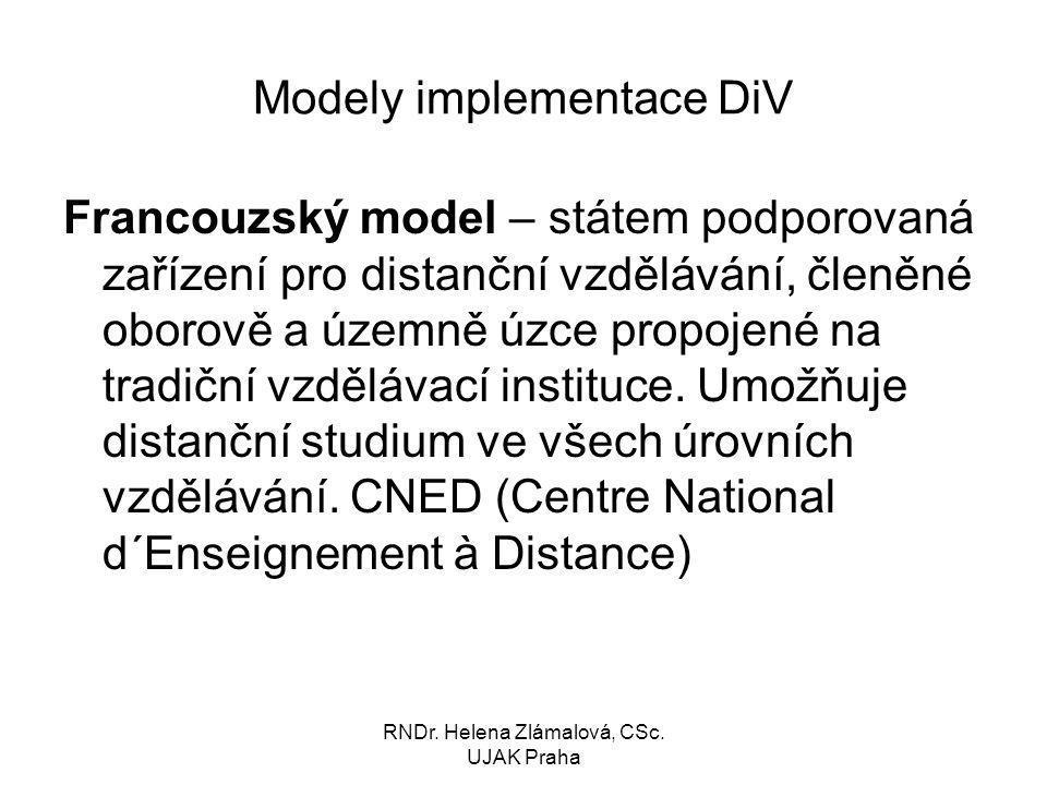 Modely implementace DiV