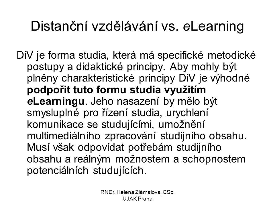 Distanční vzdělávání vs. eLearning