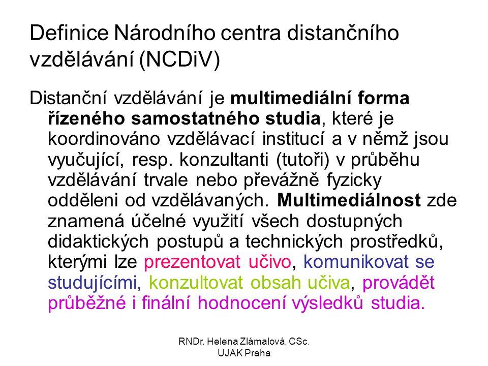Definice Národního centra distančního vzdělávání (NCDiV)