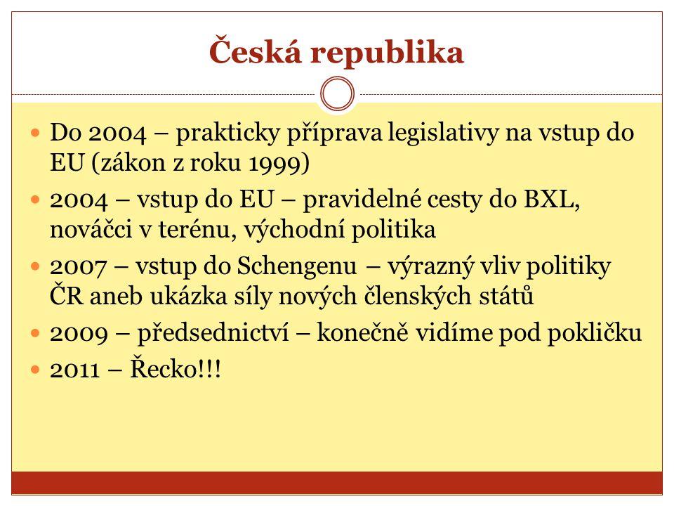 Česká republika Do 2004 – prakticky příprava legislativy na vstup do EU (zákon z roku 1999)