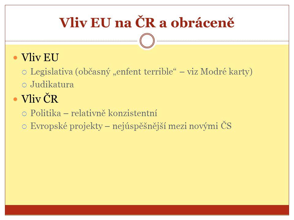 Vliv EU na ČR a obráceně Vliv EU Vliv ČR