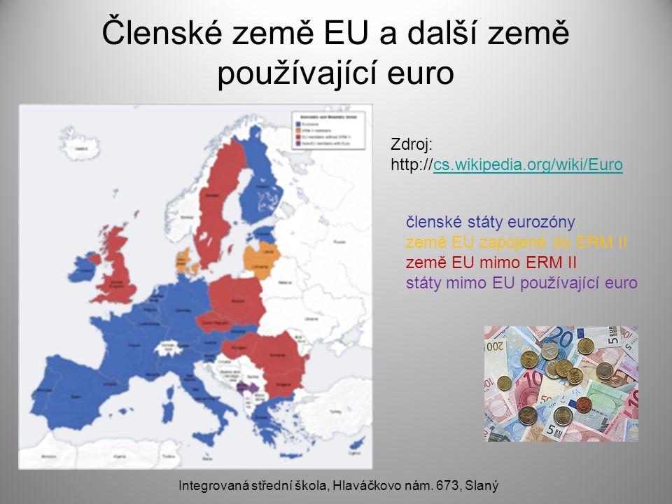 Členské země EU a další země používající euro