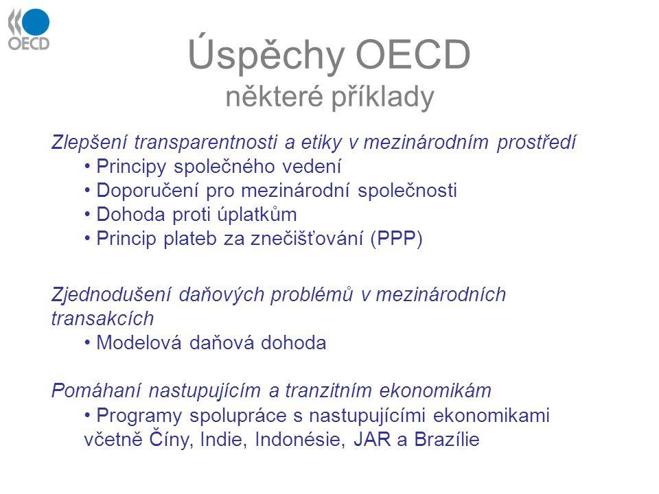 Úspěchy OECD některé příklady