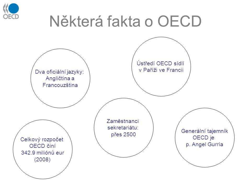 Některá fakta o OECD Ústředí OECD sídlí v Paříži ve Francii