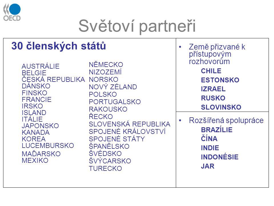 Světoví partneři 30 členských států