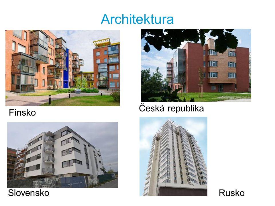 Architektura Česká republika Finsko Slovensko Rusko