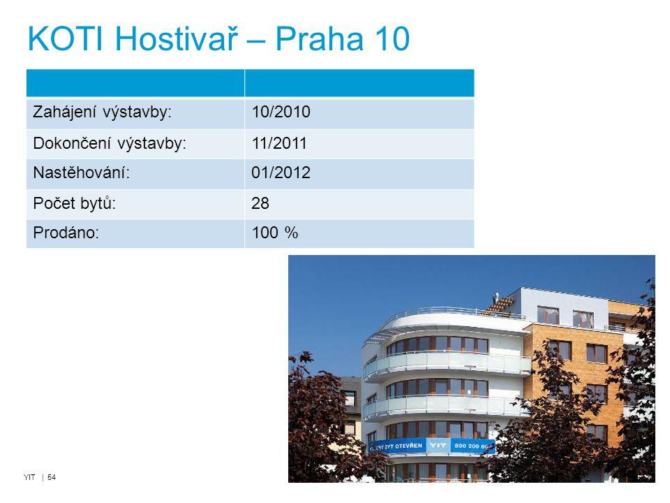 KOTI Hostivař – Praha 10 Zahájení výstavby: 10/2010