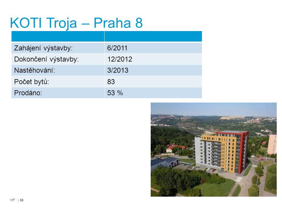 KOTI Troja – Praha 8 Zahájení výstavby: 6/2011 Dokončení výstavby: