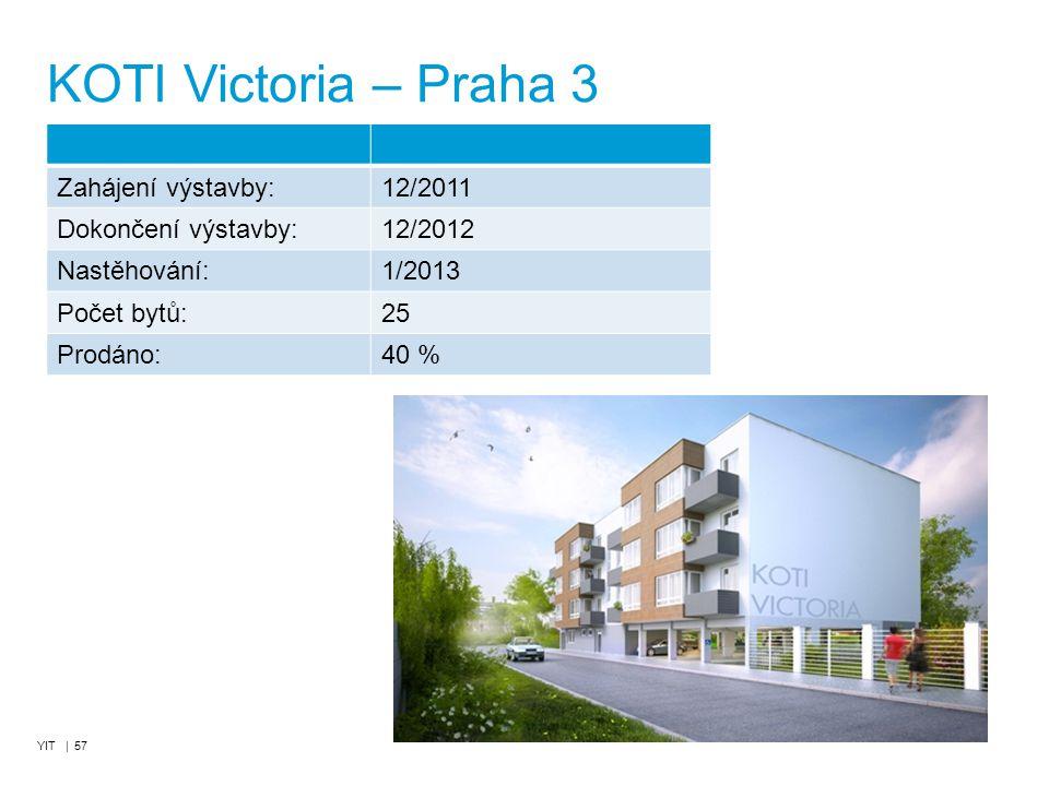 KOTI Victoria – Praha 3 Zahájení výstavby: 12/2011 Dokončení výstavby: