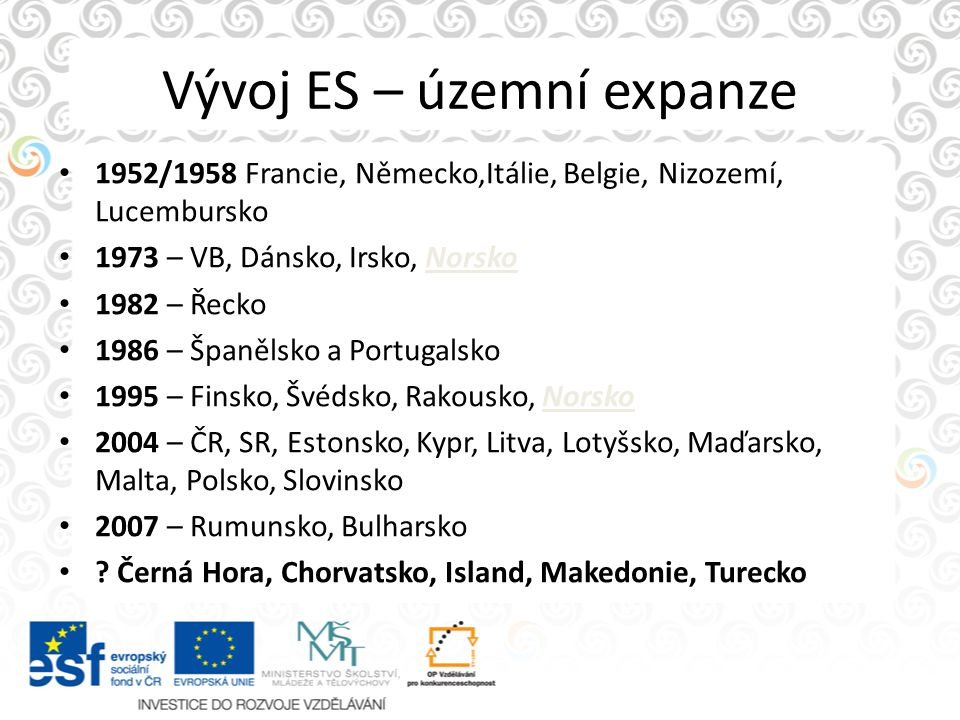 Vývoj ES – územní expanze