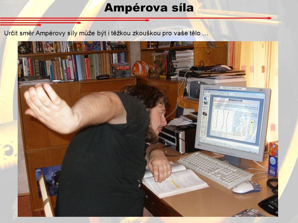 Ampérova síla Určit směr Ampérovy síly může být i těžkou zkouškou pro vaše tělo …
