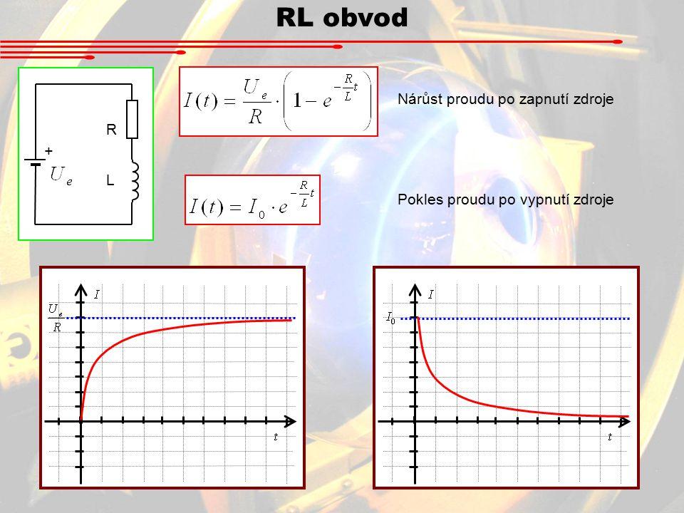 RL obvod Nárůst proudu po zapnutí zdroje R + L