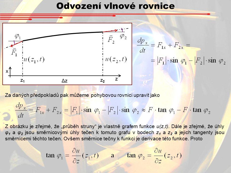 Odvození vlnové rovnice