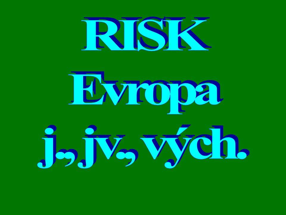 RISK Evropa j., jv., vých.