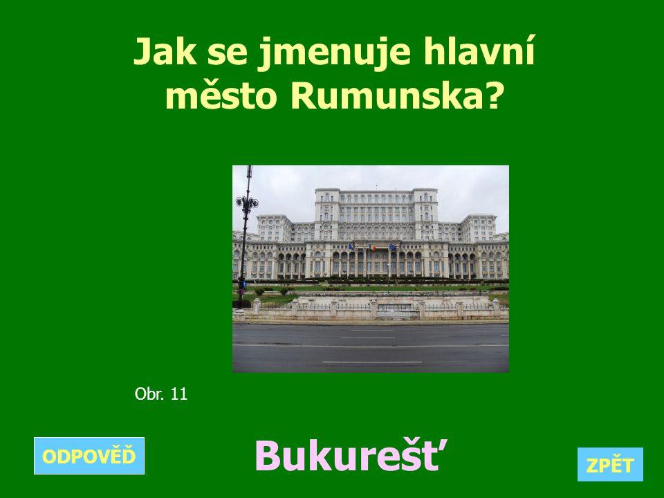 Jak se jmenuje hlavní město Rumunska