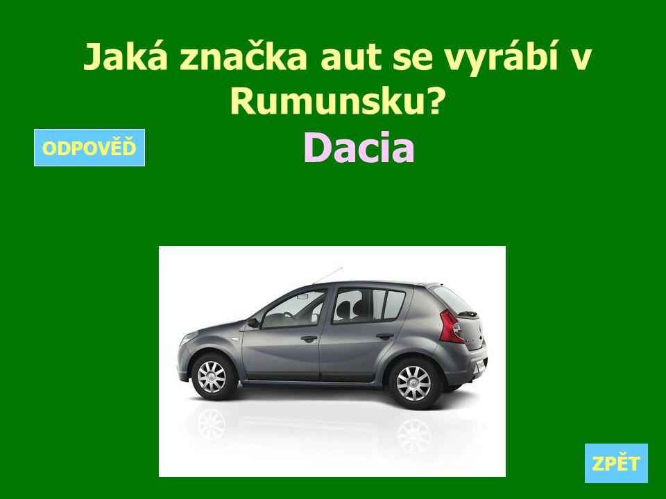 Jaká značka aut se vyrábí v Rumunsku