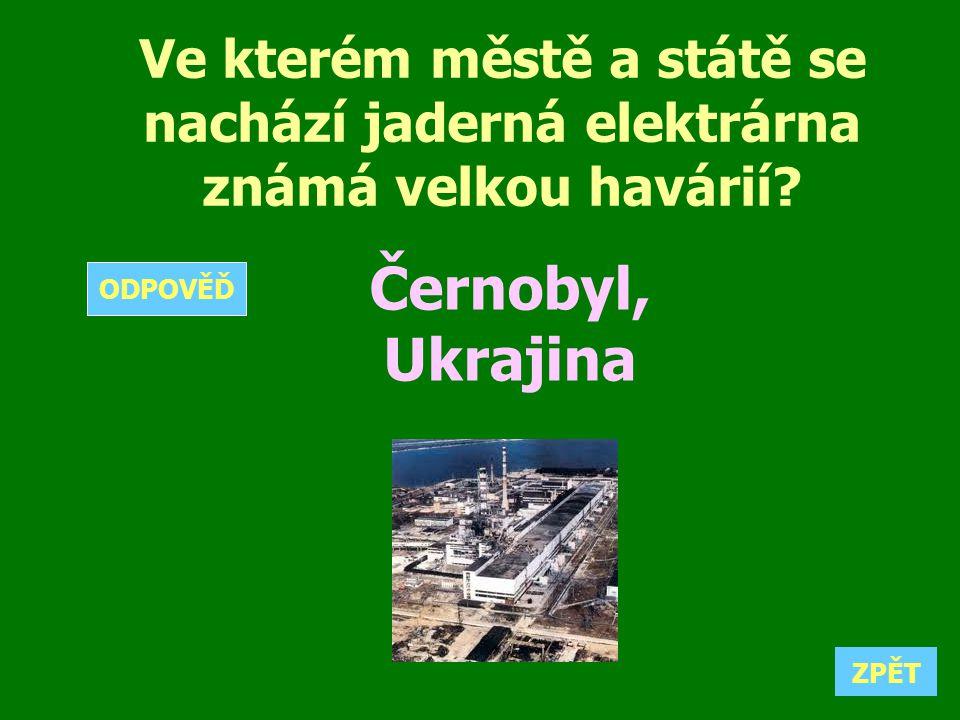 Ve kterém městě a státě se nachází jaderná elektrárna známá velkou havárií