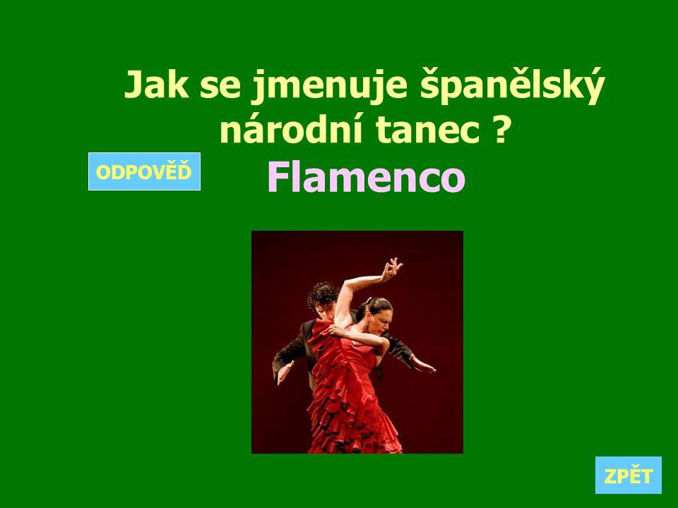Jak se jmenuje španělský národní tanec