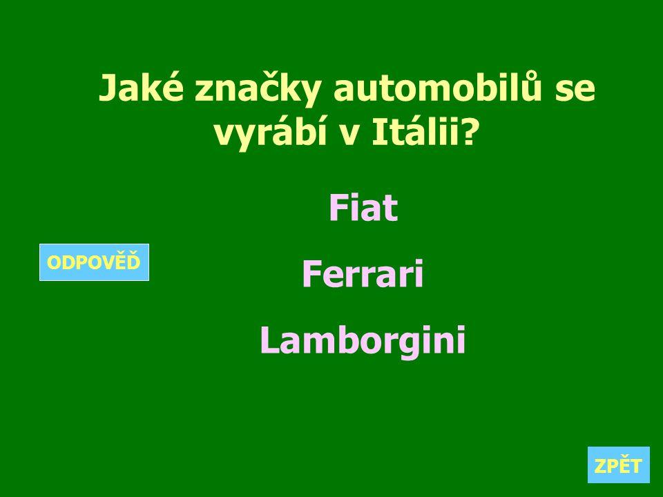 Jaké značky automobilů se vyrábí v Itálii