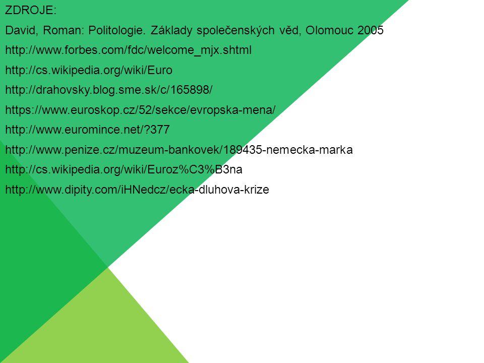 ZDROJE: David, Roman: Politologie. Základy společenských věd, Olomouc 2005. http://www.forbes.com/fdc/welcome_mjx.shtml.