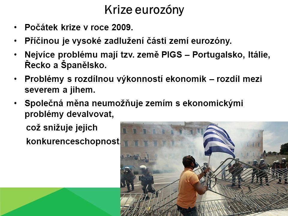 Krize eurozóny Počátek krize v roce 2009.