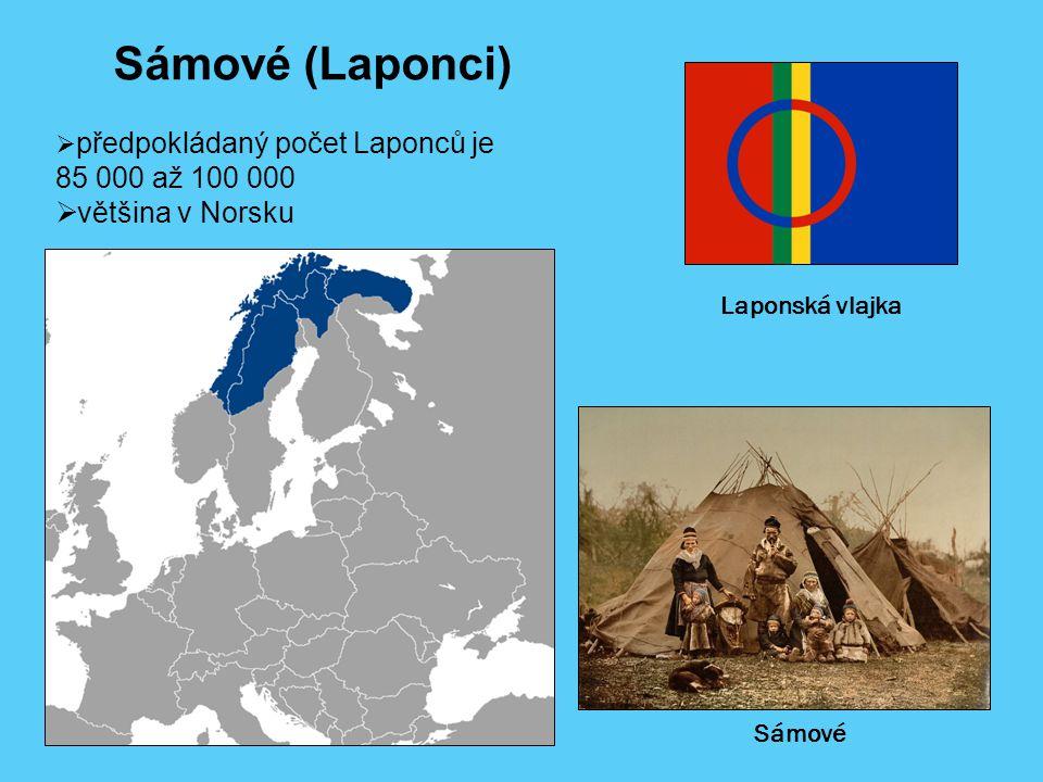 Sámové (Laponci) 85 000 až 100 000 většina v Norsku