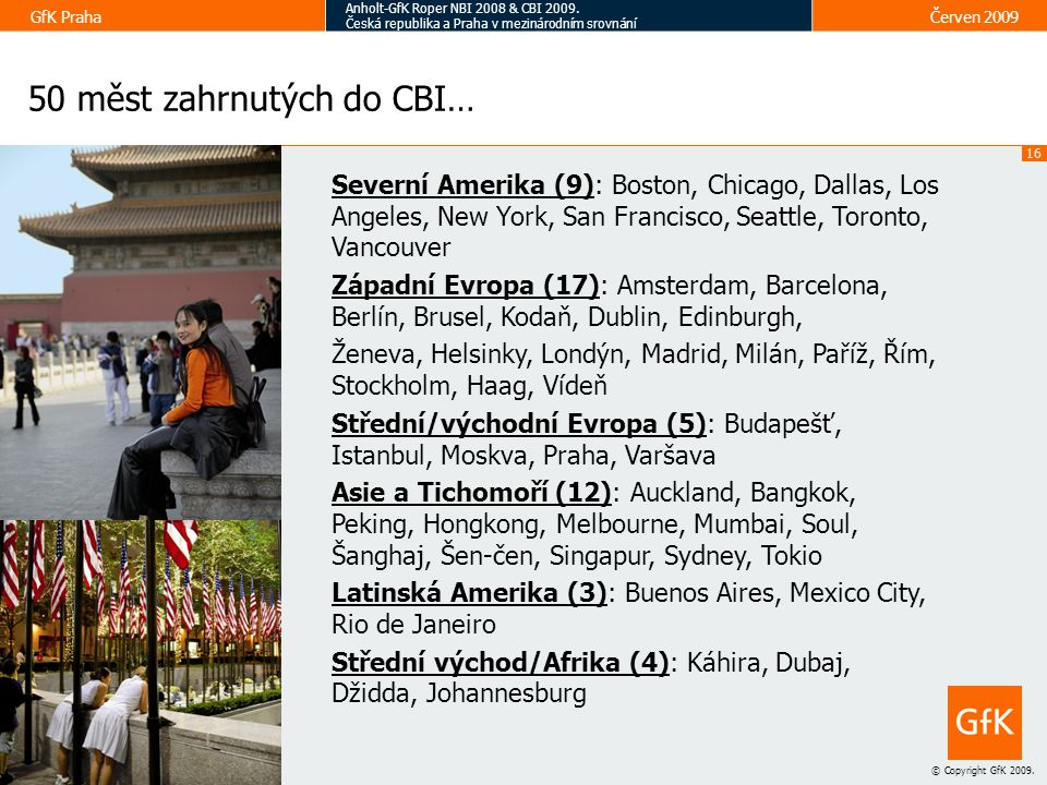 50 měst zahrnutých do CBI…