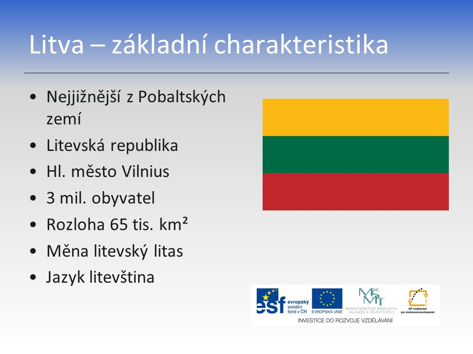 Litva – základní charakteristika
