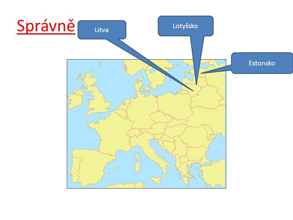 Správně Lotyšsko Litva Estonsko