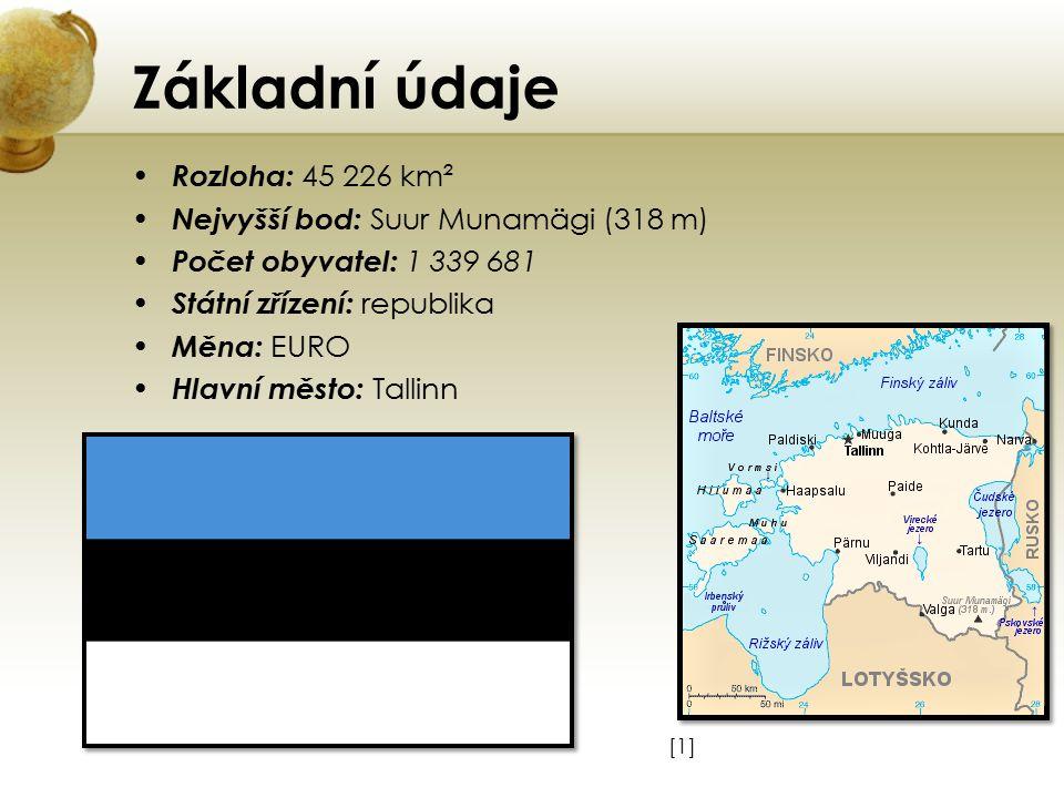 Základní údaje Rozloha: 45 226 km² Nejvyšší bod: Suur Munamägi (318 m)