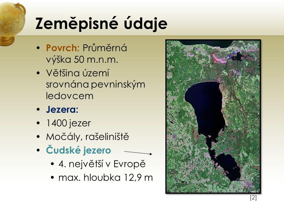 Zeměpisné údaje Povrch: Průměrná výška 50 m.n.m.