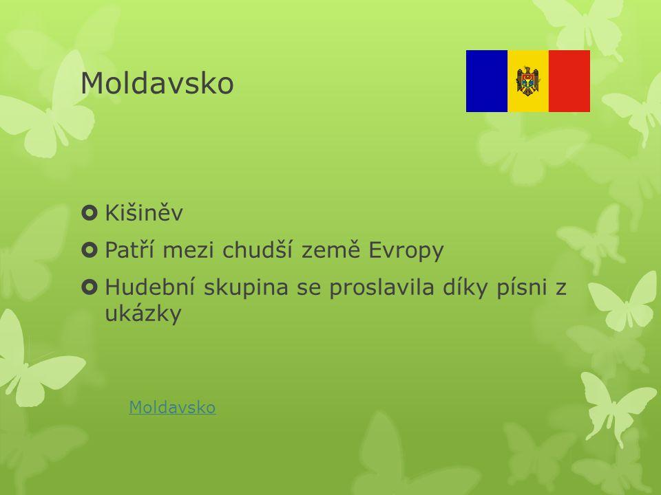 Moldavsko Kišiněv Patří mezi chudší země Evropy
